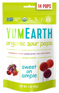 YumEarth organic sour pops