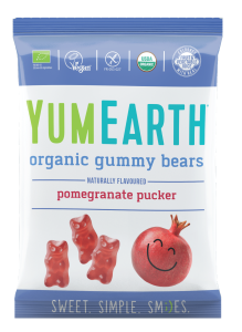 Żelki YumEarth organic gummy bears pomegranate bean 50g