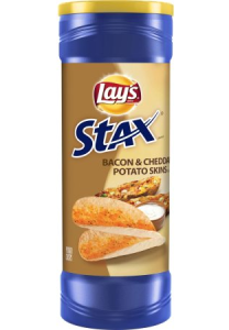 Chipsy Lay's Stax Bacon&Cheddar Potato Skins