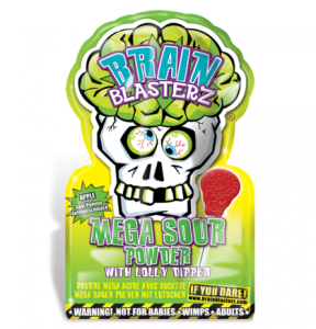 Lizak Brain Blasterz Lollipop & Sour Powder Apple
