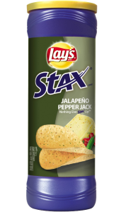 Chipsy Lay's Stax Jalapeno Pepper Jack